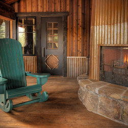 Martis Camp Rocking Chair - Whimsical and sculptural porch chair for a Lake Tahoe master planned community.