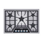 "Thermador Masterpiece Deluxe 30"" Gas Cooktop, Stainless Steel 