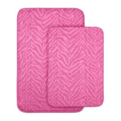 "Garland Rug - Bath Mat: Zebra Pink 20 in x 30"" Bathroom 2 -Piece Rug Set - Shop for Flooring at The Home Depot. Make your bathroom fun with this two piece zebra stripe pattern washable bath rug. Made of 100% Polypropylene with a washable backing. Proudly made in the USA."