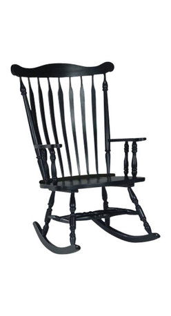 International Concepts - International Concepts Solid Wood Rocking Chair in Antique Black - International Concepts - Rocking Chairs - R37120 - Just have a seat and enjoy the beauty of mother nature with the Solid Wood Rocker in Antique Black by International Concepts!