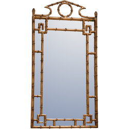 Dessau Home - Dessau Home Antique Gold Bamboo Mirror -