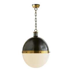 Extra Large Hicks Pendant - What a unique and interesting take on the globe light. I love that the size of this piece enables it to stand alone as the dining room table chandelier. I would even love to see this welcome me in an entryway.