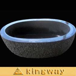 Kingway Stone Inc. - Black Granite Bathtub - Black Granite Bathtub.