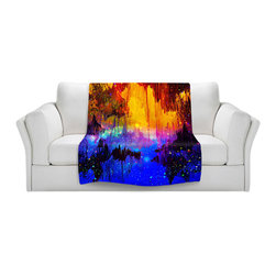 DiaNoche Designs - Fleece Throw Blanket by Julia Di Sano - Misty Cavern - Original Artwork printed to an ultra soft fleece Blanket for a unique look and feel of your living room couch or bedroom space.  DiaNoche Designs uses images from artists all over the world to create Illuminated art, Canvas Art, Sheets, Pillows, Duvets, Blankets and many other items that you can print to.  Every purchase supports an artist!