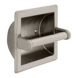 Liberty Hardware - Liberty Hardware 9097SN Jamestown - Franklin Brass 6.28 Inch Tissue Paper Holder - Ideal for commercial buildings or office bathrooms, this recessed paper holder is made of durable steel material and is plated in satin nickel finish to coordinate with other bathroom fixtures. The paper holder is easy to maintain and is designed with an beveled edges for an upscale look.. Center to Center - 3.75 Inch,Width - 6.28 Inch,Height - 6.28 Inch,Projection - 3.94 Inch,Finish - Satin Nickel,Weight - 0.95 Lbs