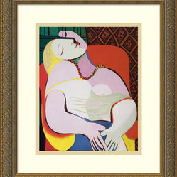 """The Dream, 1932"" Framed Print by Pablo Picasso"