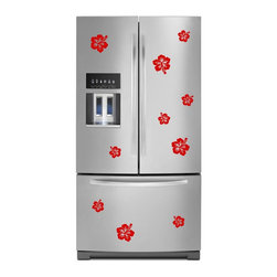 StickONmania - Refrigerator Design Decal #21 - These decals come with two of each element mirrored, you choose how to place them.A vinyl decal sticker that lets you choose how to decorate. Decorate your home with original vinyl decals made to order in our shop located in the USA. We only use the best equipment and materials to guarantee the everlasting quality of each vinyl sticker. Our original wall art design stickers are easy to apply on most flat surfaces, including slightly textured walls, windows, mirrors, or any smooth surface. Some wall decals may come in multiple pieces due to the size of the design, different sizes of most of our vinyl stickers are available, please message us for a quote. Interior wall decor stickers come with a MATTE finish that is easier to remove from painted surfaces but Exterior stickers for cars,  bathrooms and refrigerators come with a stickier GLOSSY finish that can also be used for exterior purposes. We DO NOT recommend using glossy finish stickers on walls. All of our Vinyl wall decals are removable but not re-positionable, simply peel and stick, no glue or chemicals needed. Our decals always come with instructions and if you order from Houzz we will always add a small thank you gift.
