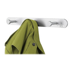 Safco - Safco Nail Head 3 Hook Wall Coat Rack Hook (Set of 12) - Safco - Coat Racks - 4201 - These 3 hook coat hooks mount easily to a wall or behind a door and feature an attractive brushed aluminum finish. Oversized circular nail head hooks protect garments while keeping them in place. Mounting hardware is included.