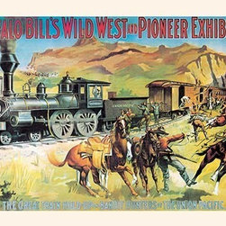 "Buyenlarge.com, Inc. - Buffalo Bill: the Great Train Hold Up - Paper Poster 20"" x 30"" - Another high quality vintage art reproduction by Buyenlarge. One of many rare and wonderful images brought forward in time. I hope they bring you pleasure each and every time you look at them."