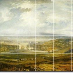 Picture-Tiles, LLC - Raby Castle The Seat Of The Earl Of Darlington Tile Mural By Joseph Tu - * MURAL SIZE: 32x48 inch tile mural using (24) 8x8 ceramic tiles-satin finish.