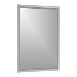 Decor Wonderland Mirrors - Decor Wonderland Frameless Etch Mirror - The Houston modern frameless mirror is a great way to revamp your bathroom. This super modern frameless wall mirror with etched design border can help illuminate and enlarge any small space. Perfect mirror for your hallway, living room or bathroom. Free Shipping!