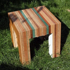 Tristan Titeux' Colorful Re-Cut Furniture is Made From Recycled Wood | Inhabitat