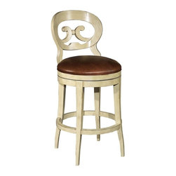 EuroLux Home - New Swivel Counter Stool Consigned Antique French - Product Details