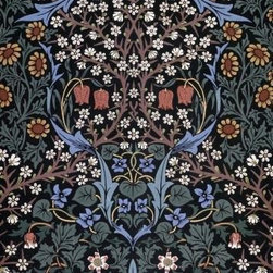 Wallmonkeys Wall Decals - Fine Art Murals Blackthorn Wallpaper by William Morris  - 60 Inches H - Easy to apply - simply peel and stick!