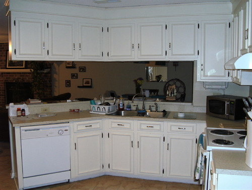 Anyone have experience removing wood appliques on cabinets.
