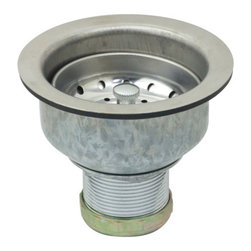 Kingston Brass - Double Cup Basket Strainer - To prevent food particles and debris to enter the water line, the Kingston Brass double cup basket strainer features a larger strainer body furnished with a lift-and-turn basket designed to protect and to allow water to descend freely. The zinc construction allows it to be a long-lasting product resistant from corrosion and tarnishing.