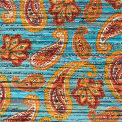 """Loloi Rugs - Loloi Rugs Aria Collection - Blue / Multi, 3'-0"""" x 3' Round - Expressive and relaxed, stylish and fun. The Aria Collection from India has it all. Pretty paisley patterns, flourishing flowers, dreamy damasks and magical medallion designs are printed onto 100% recycled cotton Chindi for scatter rugs that are flirty and fashionable. Dressed in a palette of bold, saturated colors that take you from cool blues and pinks to warm spice tones and modern tropical hues, too, Aria rugs come in select scatter sizes that will accent choice spaces with flair."""