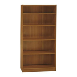 Bush Business - Bush Universal Bookcase w 5 Shelves - Wall attachment hardware included. Three adjustable shelves for flexible storage options. One fixed shelf for added stability. Elevated bottom shelf and front base rail. Made from furniture grade particle board. Minimal assembly required. 36.97 in. W x 11 in. D x 72 in. H (103 lbs.). WarrantyUniversal bookcases offer a range of stylish, heavy-duty storage options that work well in a home setting or small office.