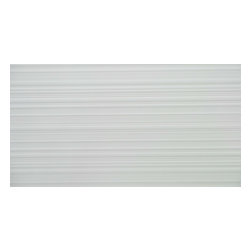 "GL STONE LTD - 3D Brush Pattern White Ceramic Wall Tile ( 1 Pallet / 480 Sq Ft ) - 12"" x 36"" 3D Brush Pattern Ceramic Wall Tile is a great way to enhance your decor with a traditional aesthetic touch. This matte finished tile is constructed from durable, impervious ceramic material, comes in smooth finish and is suitable for installation on walls in commercial and residential spaces such as bathrooms and kitchens. Brush pattern tile is the best choice to be bathroom backsplash or surround wall tile. You can also combine with other wall tile as the unique design in your room. Simply gorgeous tile."