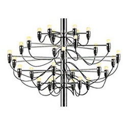 2097 Chandelier - Entryways and dining rooms are great places to add major drama, and this intricate contemporary chandelier will bring all that and more. She's a diva.