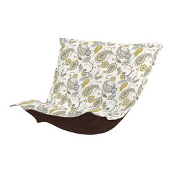 Paisley Lagoon Puff Chair Cushion - Extra Puff Cushions in Paisley are a great way to get a fresh new look without the expense of buying a whole new chair! Puff Cushions fit Scroll & Rocker frames. This Paisley cushion features a classic design in a modern mix of blue and green colors.