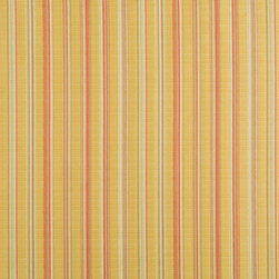 Gold Red And Green Stripe Upholstery Jacquard Fabric By The Yard - This multipurpose fabric is great for residential upholstery, slipcovers and pillows. This material is woven for enhanced elegance, and will exceed 35,000 double rubs (15,000 is considered heavy duty)