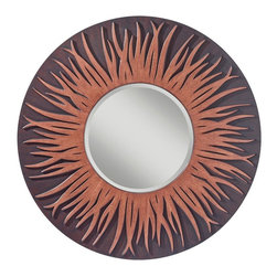 Murray Feiss - Murray Feiss Fiamma Contemporary Round Mirror X-WTT6711RM - Murray Feiss Fiamma Contemporary Round Mirror X-WTT6711RM