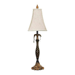 Dimond Black with Polka Dots Gold Leaf Table Lamp