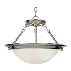 Premier - Two Light Lunar Bay 15.5 inch Chandelier - Brushed Nickel - Premier 560795 15-1/2in. W by 13-1/4in. H Lunar Bay Lighting Collection 2-Light Pendant, Brushed Nickel.