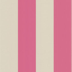 Decorline - Decadence Stripe Wallpaper - Sweet yet sophisticated, this pink and silver striped wallpaper will bring just that bit of pop your walls need. This whimsical and sleek design will look amazing in your sitting room or vanity area.
