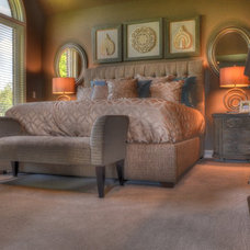 Transitional Bedroom by Dan Rak Design