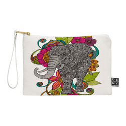 DENY Designs - DENY Designs Valentina Ramos Ruby The Elephant Pouch - You name it, DENY's Pouches hold it! Available in two sizes and styles, you can use our water repellent pouches for cosmetics, perfume, jewelry, pencils and even an Ipad mini! And did we mention that the small size doubles as a wristlet? With a coordinating color strap and interior lining, you can throw it into a larger bag or use it on the go as a clutch to hold your phone, credit cards and various other essentials. It's a party in a bag!