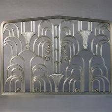 Eclectic Indoor Fireplaces by KRAMER DESIGN STUDIO