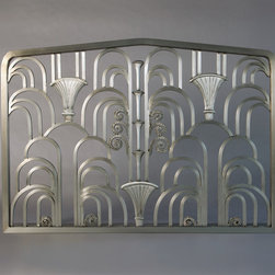 Art-Deco Fireplace Screen - I created this wonderful Art Deco Fireplace Screen to fit a clients limestone fireplace