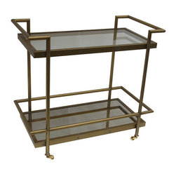 Bassett Mirror Company - Bassett Mirror Fouquet Tea Cart - Tea Cart belongs to Fouquet Collection by Bassett Mirror Company Tea Cart Tea Cart (1)