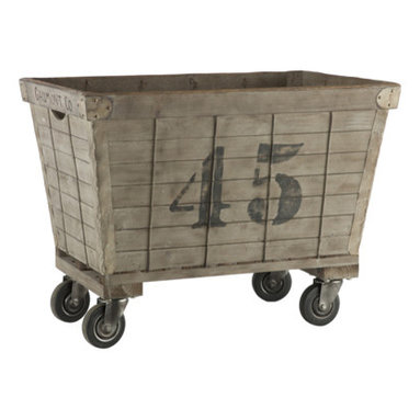 Lavandrie Cart - Aidan Gray - This eclectic cart is based upon a vintage laundry bin design. Now let it lend it's charm to your playroom, living room or home office.