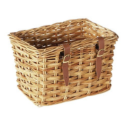 Eco Displayware - Traditional Bicycle Rattan Basket in Natural - Great for closet, bath, pantry, office or toy and game storage. Earth friendly. 15 in. L x 10 in. W x 10 in. H (5.45 lbs.)These natural colored baskets add warmth and charm and keep you organized.