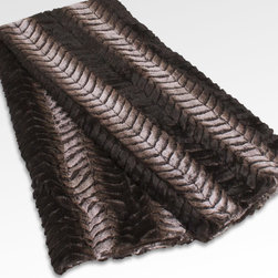None - Gregory Throw - The Gregory Throw's plush faux fur is anything but ordinary. With a timeless zig zag pattern and gradual tonal color shifts, this throw offers both warmth and stylish luxury.