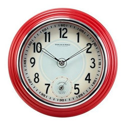 Retro Kitchen Wall Clock, Red - A classic, retro, red clock hanging above the doorway is a must for any kitchen. One might argue that the microwave, oven and maybe even toaster oven and coffee maker tell you the time already, but I stand by my declaration.