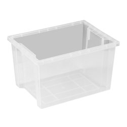 Ecr4kids - Ecr4Kids Daycare Rectangular Large Storage Organizer Plastic Bin 20 Pack - Store everything you need in this extra large storage binStorage made attactive and easy Use these extra-deep, large storage bins with our trolley and classroom storage units. NoteColors may vary and are subject to change without notice.