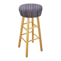 Chooty & Co. - Multi Stripe Charcoal 16 in. Round Foam Bar Stool Cushion Multicolor - BS16K2206 - Shop for Cushions and Pads from Hayneedle.com! Adding comfort and style to your wooden bar stools is a breeze with the Multi Stripe Charcoal 16 in. Round Foam Bar Stool Cushion. This handsome and removable cushioned cover is made of durable polyester with a gray and red stripe pattern. Its high-density foam insert brings luxurious comfort. This bar stool cover is finished with elastic for a secure fit and tailored look.About Chooty & Co.A lifelong dream of running a textile manufacturing business came to life in 2009 for Connie Garrett of Chooty & Co. This achievement was kicked off in September of '09 with the purchase of Blanket Barons well known for their imported soft as mink baby blankets and equally alluring adult coverlets. Chooty's busy manufacturing facility located in Council Bluffs Iowa utilizes a talented team to offer the blankets in many new fashion-forward patterns and solids. They've also added hundreds of Made in the USA textile products including accent pillows table linens shower curtains duvet sets window curtains and pet beds. Chooty & Co. operates on one simple principle: What is best for our customer is also best for our company.