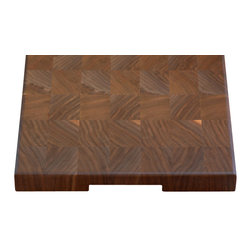 Cherrywood Studio - Black Walnut End Grain Cheese Board - These boards are created from off cuts of our larger projects. We like to use as much of the salvaged hardwood tree as possible. These boards feature the end grain of the wood and are the choice of professional chefs.