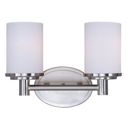 Maxim Lighting 9052SWSN Cylinder 2-Light Bath Vanity - Product Highlights