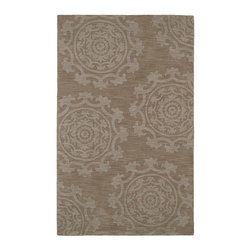 "Kaleen - Contemporary Imprints Classic 3'6""x5'6"" Rectangle Light Brown Area Rug - The Imprints Classic area rug Collection offers an affordable assortment of Contemporary stylings. Imprints Classic features a blend of natural Light Brown color. Hand Tufted of 100% Wool the Imprints Classic Collection is an intriguing compliment to any decor."