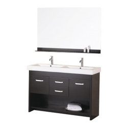 "Design Element - Design Element DEC074 Citrus 48"" Double Sink Vanity Set in Espresso - Design Element DEC074 Citrus 48"" Double Sink Vanity Set in Espresso"