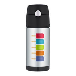 Colorful Popsicles Thermos Bottle - You might wish there were slushy popsicle juice in here, but at least you'll be invoking chilly water with this classic pop printed thermos.