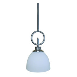 Yosemite Home Decor - Yosemite Home Decor 189-1P-SS Mini Pendant - Beauty in simplicity is what you can get with this 2 Light Semi- Flush Mount in Satin Steel Finish with Dove White Shade. Within Panorama Trail Collection from Yosemite Home DEcor, this lighting fixture features its beautifully crafted fabric shade providing a perfect harmony with its sleek satin steel metal holder and arms. This model requires 2 medium base, E26, 60-watt incandescent light bulbs. It has overall dimensions of 15.25 in. W x 4.75 in. D x 11.25 in. H. Light bulbs are not included- sold separately. The item is UL listed and guarantees 1 year warranty on parts. Also available in Ebony Bronze Finish. Item Code #1986-3SF-SS.