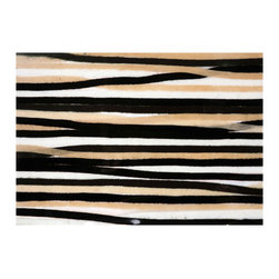 Liora Manne - Liora Manne Stripes Black and White Placemats, Set of 4 -