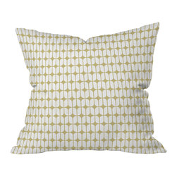 DENY Designs - Caroline Okun Modular Beige Throw Pillow - Throw your couch a curve! A clean, simple graphic in understated neutrals complements your classic style.