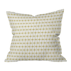 Caroline Okun Modular Beige Throw Pillow, 18x18x5